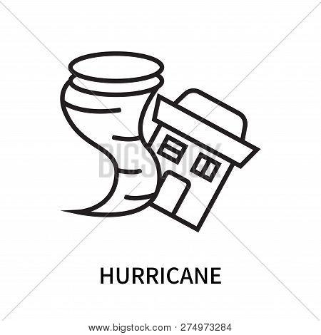 Hurricane Icon Isolated On White Background. Hurricane Icon Simple Sign. Hurricane Icon Trendy And M