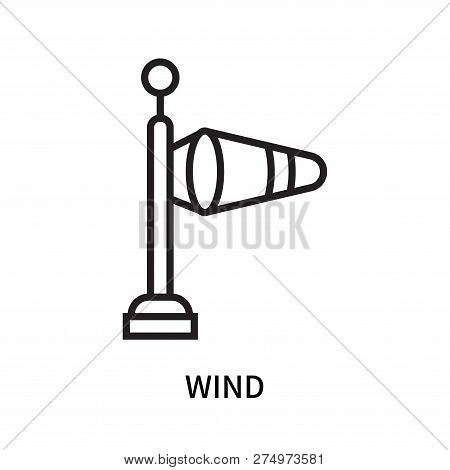 Wind Icon Isolated On White Background. Wind Icon Simple Sign. Wind Icon Trendy And Modern Symbol Fo