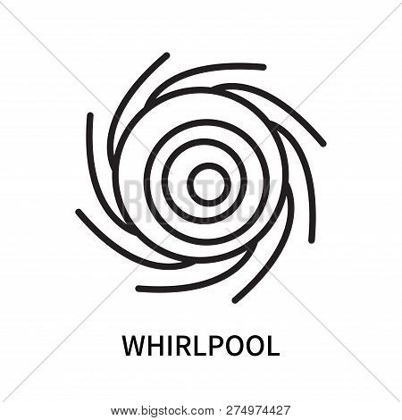Whirlpool Icon Isolated On White Background. Whirlpool Icon Simple Sign. Whirlpool Icon Trendy And M