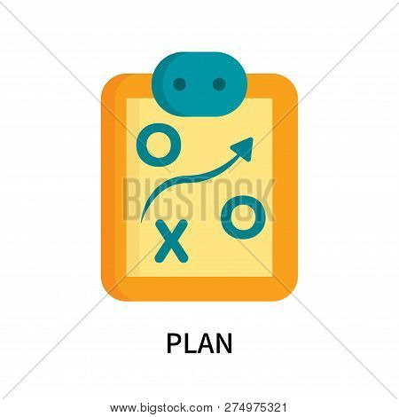 Plan Icon Isolated On White Background. Plan Icon Simple Sign. Plan Icon Trendy And Modern Symbol Fo