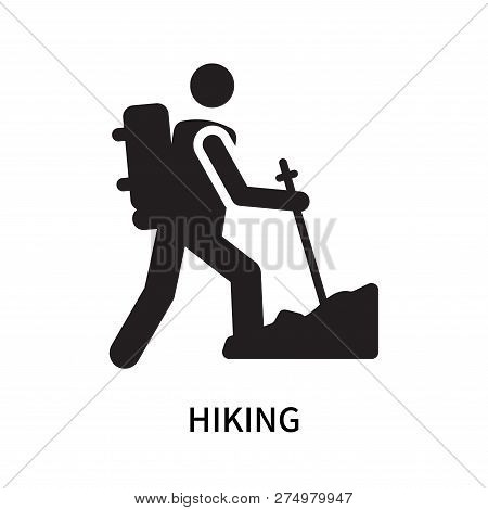 Hiking Icon Isolated On White Background. Hiking Icon Simple Sign. Hiking Icon Trendy And Modern Sym