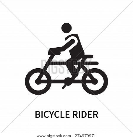 Bicycle Rider Icon Isolated On White Background. Bicycle Rider Icon Simple Sign. Bicycle Rider Icon