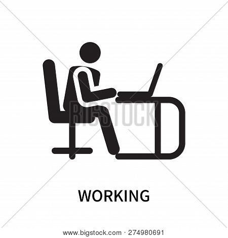 Working Icon Isolated On White Background. Working Icon Simple Sign. Working Icon Trendy And Modern