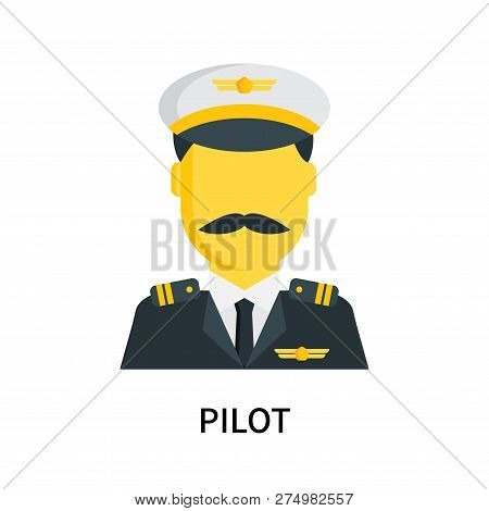 Pilot Icon Isolated On White Background. Pilot Icon Simple Sign. Pilot Icon Trendy And Modern Symbol