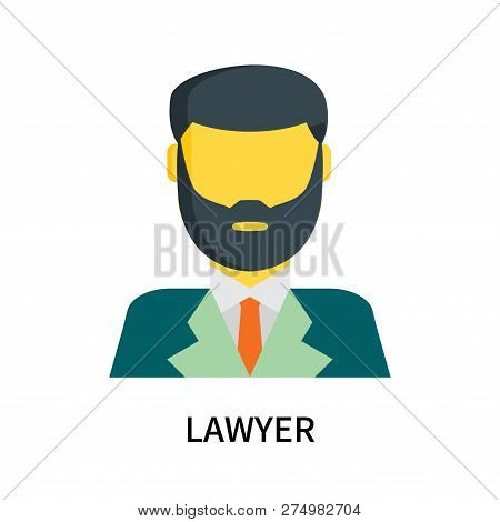Lawyer Icon Isolated On White Background. Lawyer Icon Simple Sign. Lawyer Icon Trendy And Modern Sym