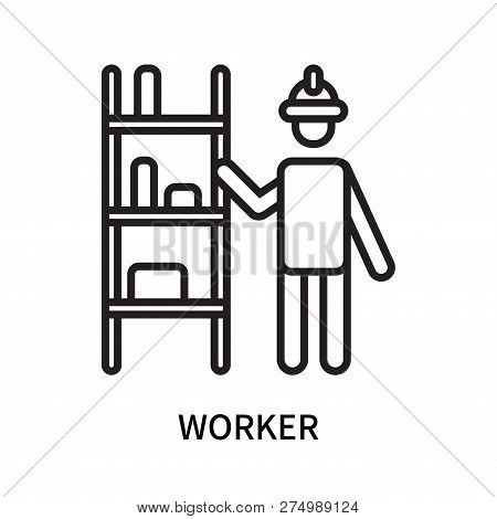 Worker Icon Isolated On White Background. Worker Icon Simple Sign. Worker Icon Trendy And Modern Sym