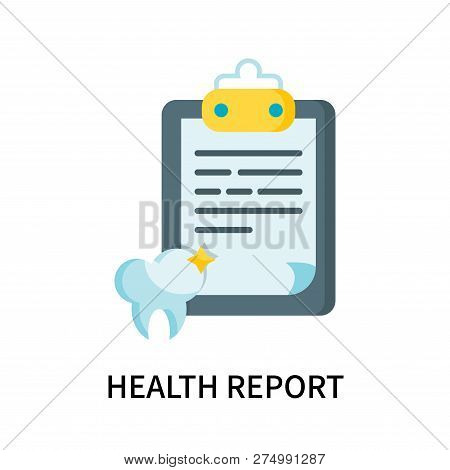 Health Report Icon Isolated On White Background. Health Report Icon Simple Sign. Health Report Icon