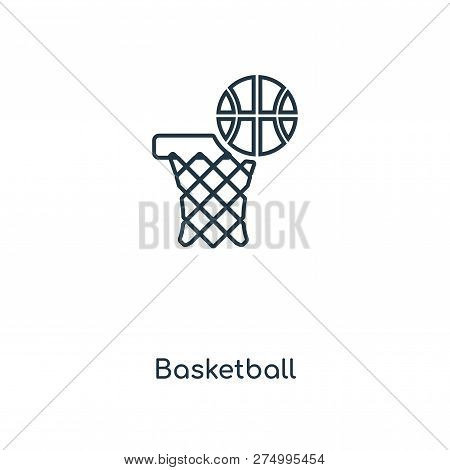 Basketball Icon In Trendy Design Style. Basketball Icon Isolated On White Background. Basketball Vec
