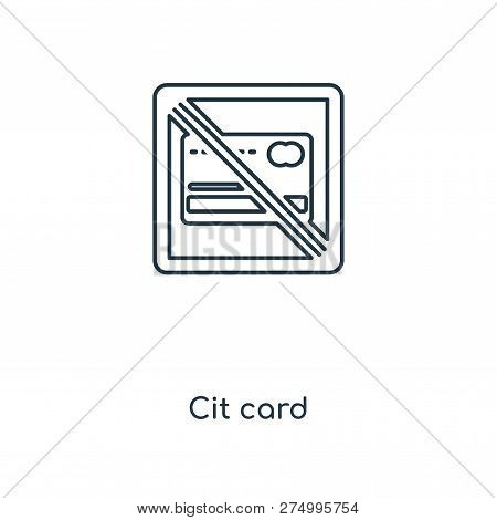 Credit Card Icon In Trendy Design Style. Credit Card Icon Isolated On White Background. Credit Card