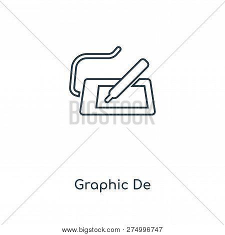 Graphic Designer Icon In Trendy Design Style. Graphic Designer Icon Isolated On White Background. Gr