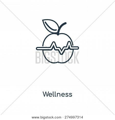 Wellness Icon In Trendy Design Style. Wellness Icon Isolated On White Background. Wellness Vector Ic