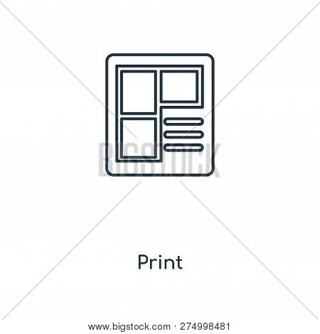 Blueprint Icon In Trendy Design Style. Blueprint Icon Isolated On White Background. Blueprint Vector