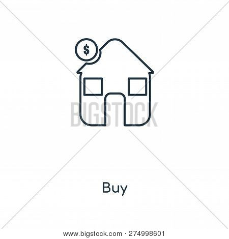 Buy Icon In Trendy Design Style. Buy Icon Isolated On White Background. Buy Vector Icon Simple And M