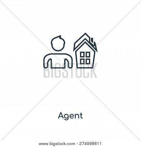 Agent Icon In Trendy Design Style. Agent Icon Isolated On White Background. Agent Vector Icon Simple