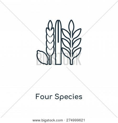 Four Species Icon In Trendy Design Style. Four Species Icon Isolated On White Background. Four Speci