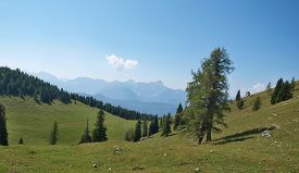 Gailtal Alps, View From The Hiking Trail On The Mountain Dobratsch, Carinthia, Austria