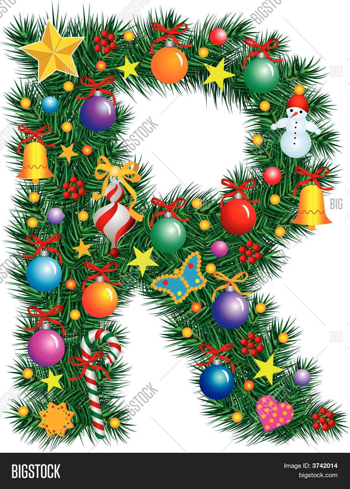alphabet letter r christmas decoration