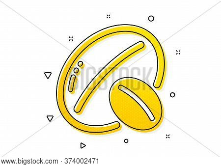Tasty Nuts Sign. Soy Nut Icon. Vegan Food Symbol. Yellow Circles Pattern. Classic Soy Nut Icon. Geom