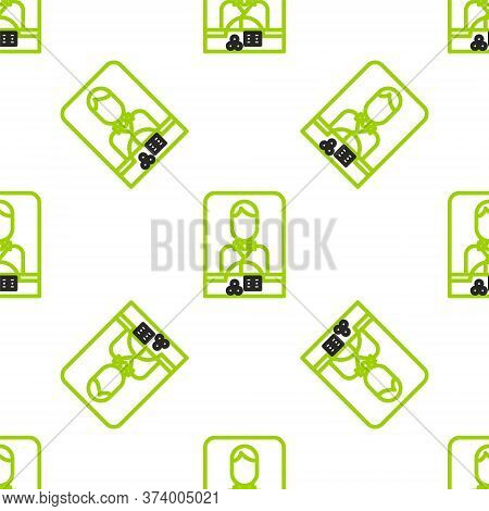 Line Casino Dealer Icon Isolated Seamless Pattern On White Background. Casino Croupier. Vector Illus