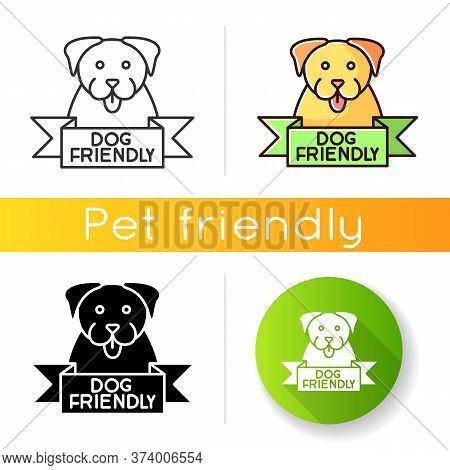 Dog Friendly Area Icon. Puppy Permitted Zone Mark. Domestic Animals Allowed Territory, Grooming, Pet