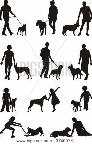 People and dog