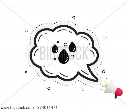 Rainy Weather Forecast Icon. Quote Speech Bubble. Rain Sign. Water Drops Symbol. Quotation Marks. Cl