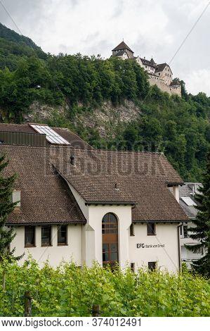 Vaduz, Fl / Liechtenstein - 16 June 2020: View Of The Efg Bank Von Erns Bank Headquarters In Vaduz I