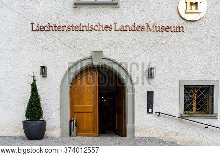 Vaduz, Fl / Liechtenstein - 16 June 2020: View Of The Liechtensteinische Landesmueseum Or National M