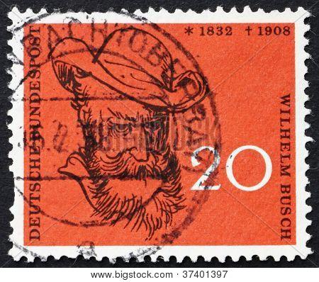 Postage stamp Germany 1958 Wilhelm Busch, Humorist