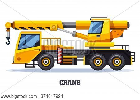 Crane Truck Or Construction And Lifting Machinery