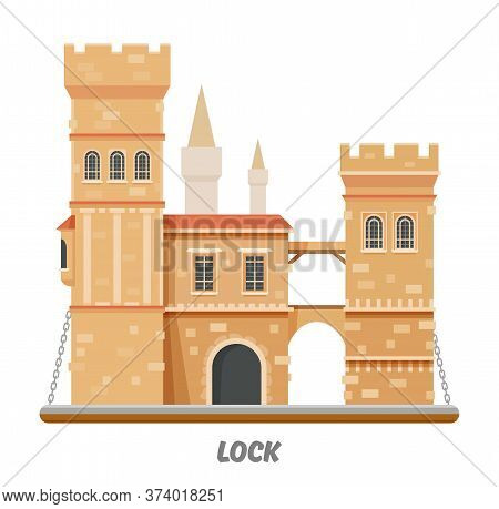 Fortress Lock Castle Fort Towers With Drawbridge