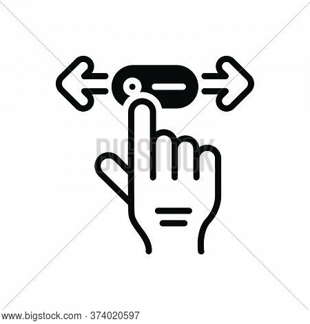 Black Solid Icon For Move Gait Ploy Ruse Change Hand Touch