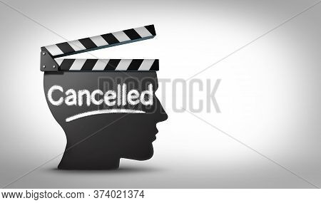 Media Cancel Culture Symbol Or Cultural Cancellation And Social Media Censorship As Canceling Or Res
