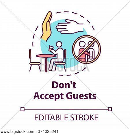 Dont Accept Guests Concept Icon. Self-isolation Precaution For Health Care. Avoid Visitors. Quaranti