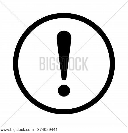 Exclamation Mark, Sign In Circle. Exclamation Point, Warning And Attention Icon. Notice Warn. Vector