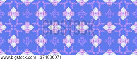 Spring Floral Ikat. Patterns Lisbon Decor. Summer Retro Rug. Blue, White Seamless  Decorative Art Im