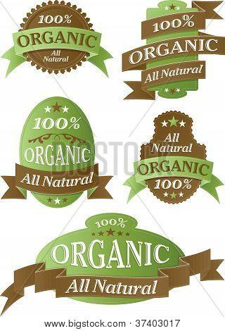 Retro Organic Themed Label Set