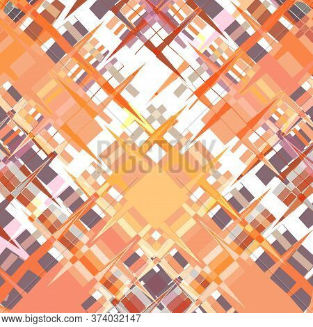 Abstract Multicolor Background, Geometric Intersection Of Sharp Corners Of Zigzags, Borders And Othe