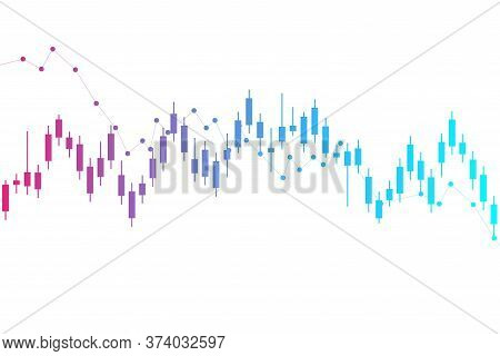 Stock Market Or Forex Trading Graph. Chart In Financial Market Vector Illustration Abstract Finance