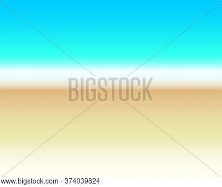 Abstract Background - Surf Line. Sea Vector Background - Sand, Surf Foam And Sea Water. Summer Backg