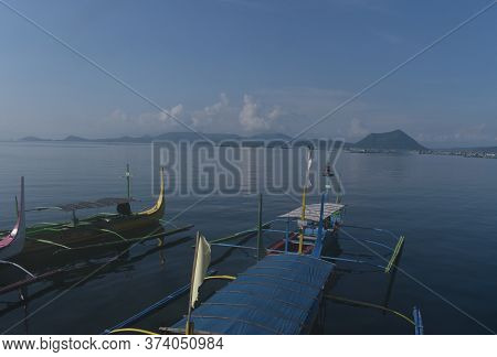 The Boat Trip Toward The Volcano Mountain In Tagay Tay Philippines