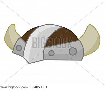 Viking Helmet Isolated Illustration On White Background