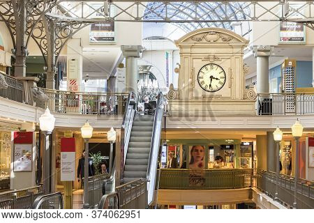 Buenos Aires, Argentina - March 21th, 2018: Interior Of The Patio Bullrich Shopping Mall With The Au