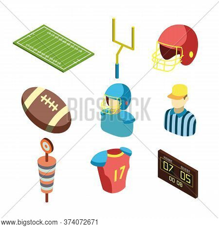 American Football Sportive Equipment Set Vector Thank You For Your Email And Expressing Your Interes