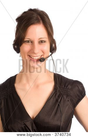 Friendly Attractive Telephone Operator