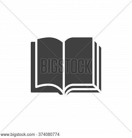 Blank Book Pages Vector Icon. Filled Flat Sign For Mobile Concept And Web Design. Book Open Pages Gl