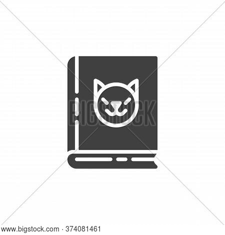 Veterinary Book Vector Icon. Filled Flat Sign For Mobile Concept And Web Design. Zoology Book Glyph