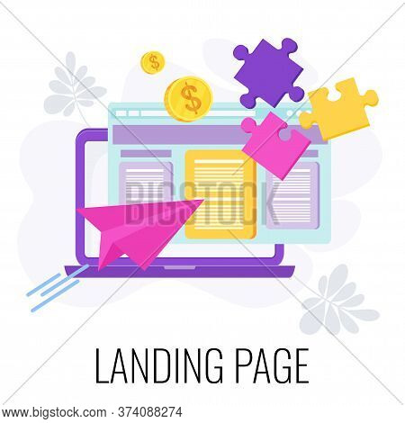 Landing Page Icon. Standalone Web Page. Digital Marketing. Ecommerce Online Sales. Lead Generation.