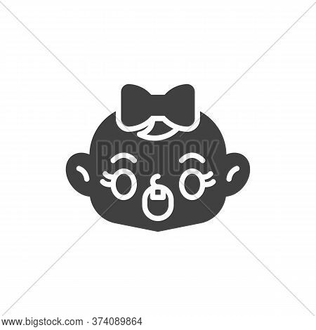Astonished Baby Face Vector Icon. Filled Flat Sign For Mobile Concept And Web Design. Screaming Chil