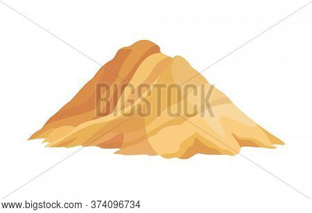 Heap building material. Heap of sand. illustrations can be used for construction sites, works and industry career